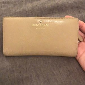 Kate Spade Stacy Snap wallet beige leather - Used